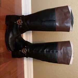 Michael Kors Fulton Harness boot in Black/Mocha